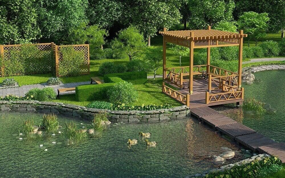 Ландшафтный дизайн водоем