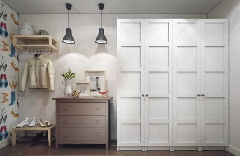белый шкаф скандинавский стиль