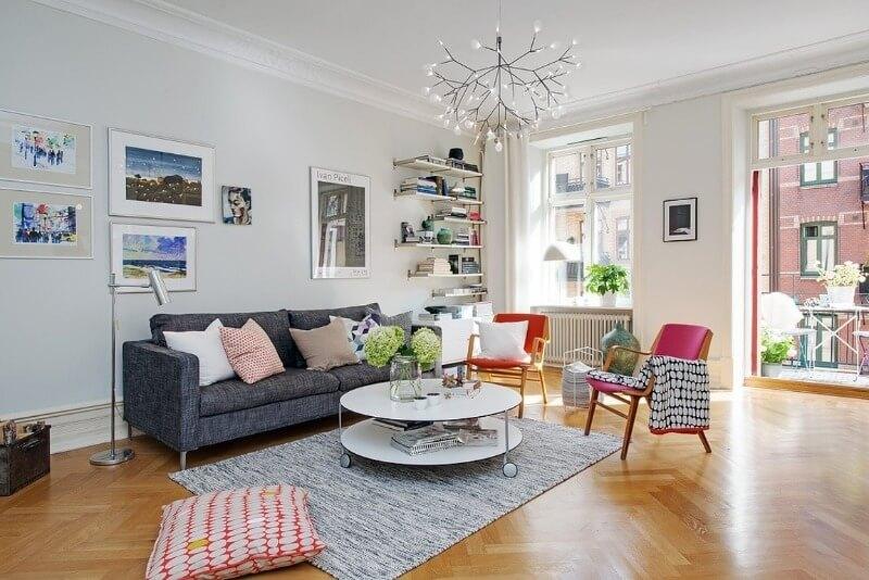 материалы отделки комнаты в скандинавском стиле