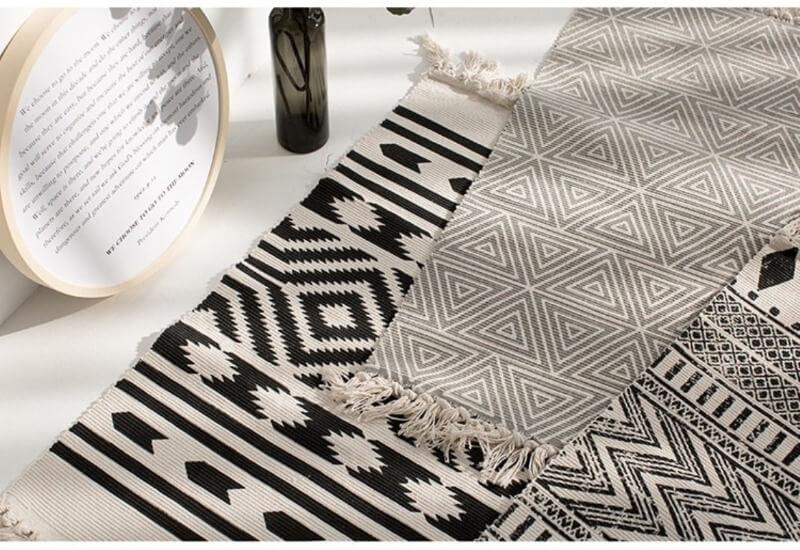 ковры на полу в скандинавском стиле
