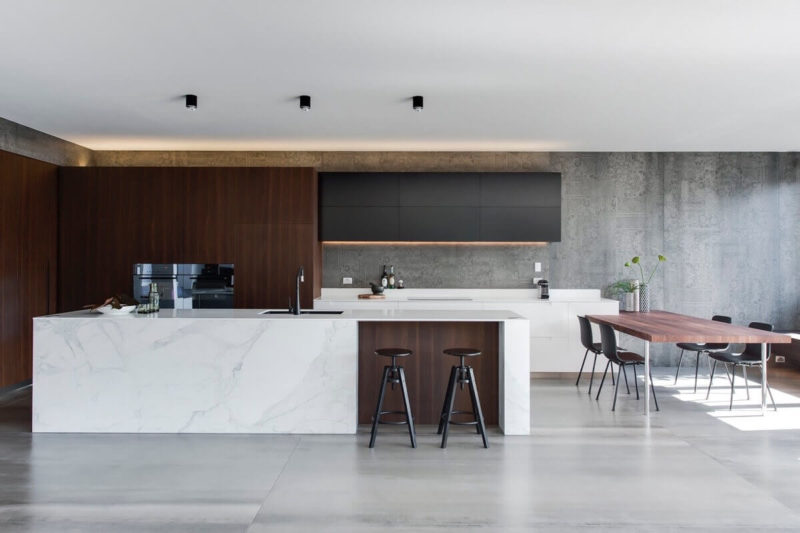 кухня под мрамор