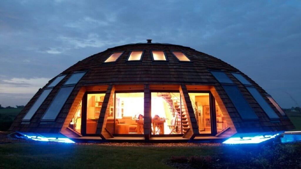 Купольная крыша геодезическая