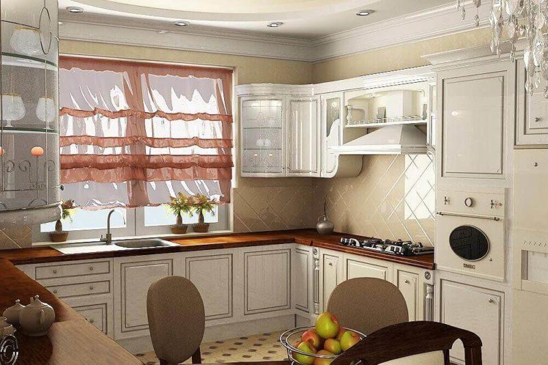 Натуральные светлые оттенки в интерьере кухни