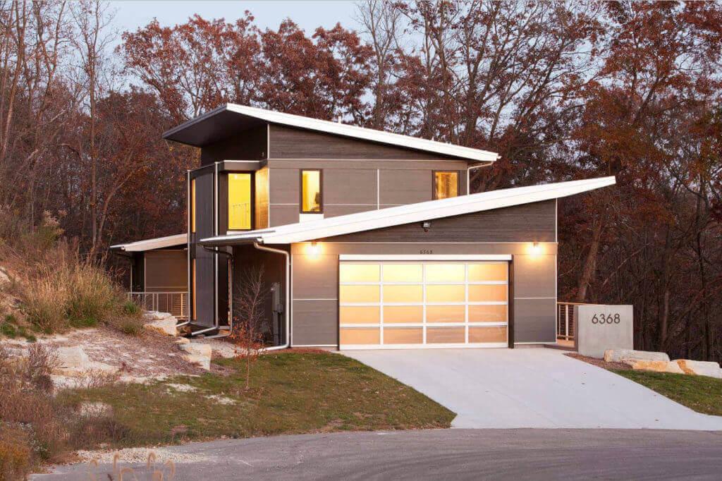 Однокаскатная крыша дома