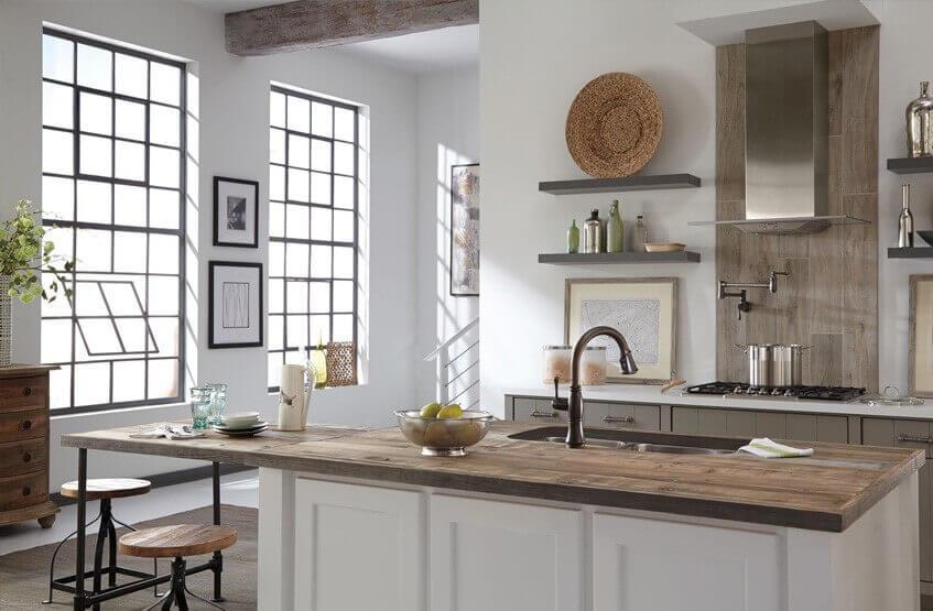 Пастельные оттенки в отделке кухни