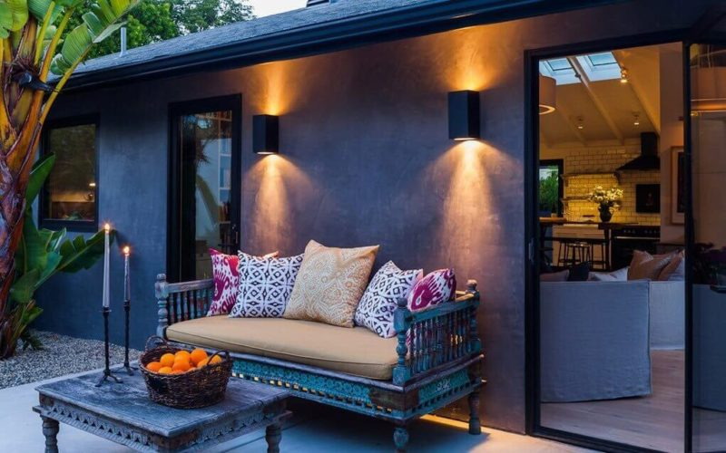 освещение дачного дома в стиле хай-тек