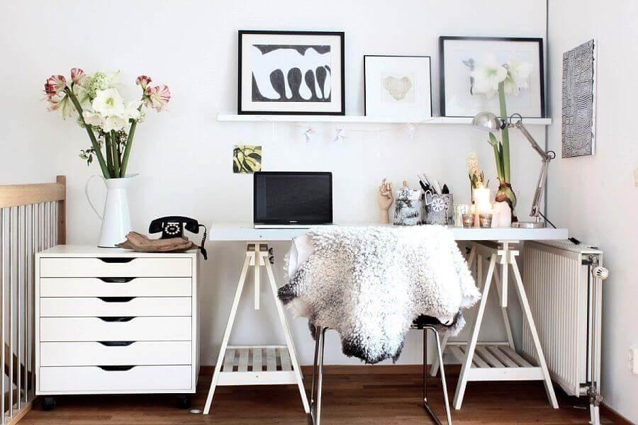декор кабинета в скандинавском стиле