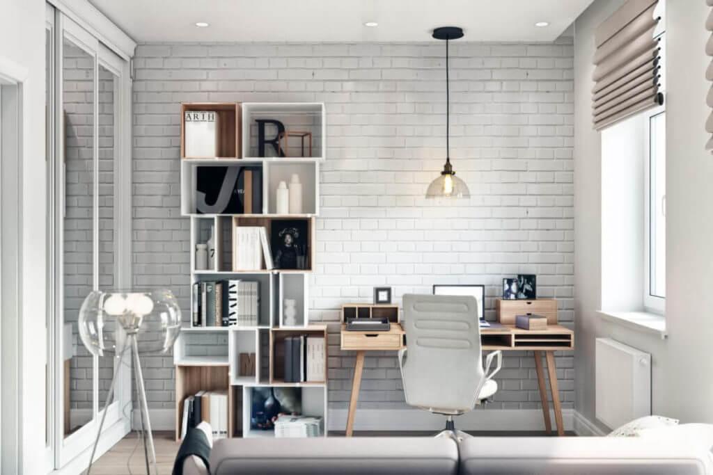 Рабочий кабинет в скандинавском стиле