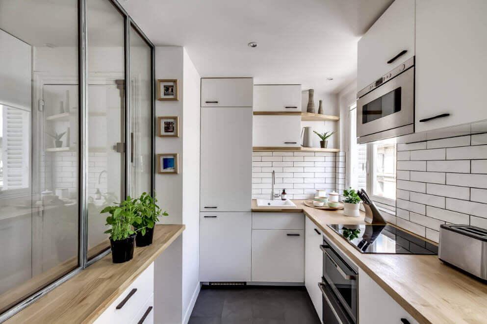 оформление кухни и столовой в скандинавском стиле