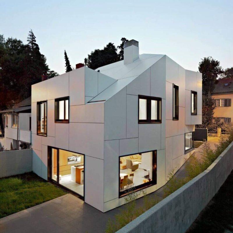 алюминиевый фасад дома