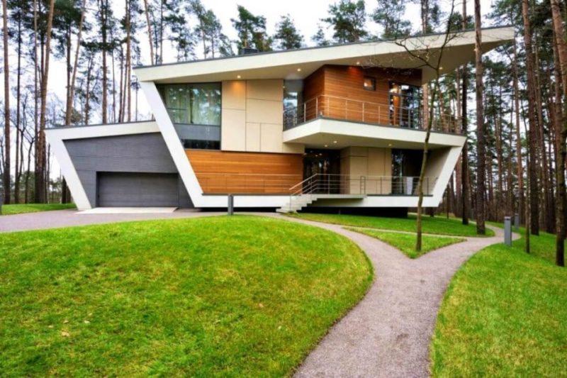 Загородный дом в стиле хай-тек