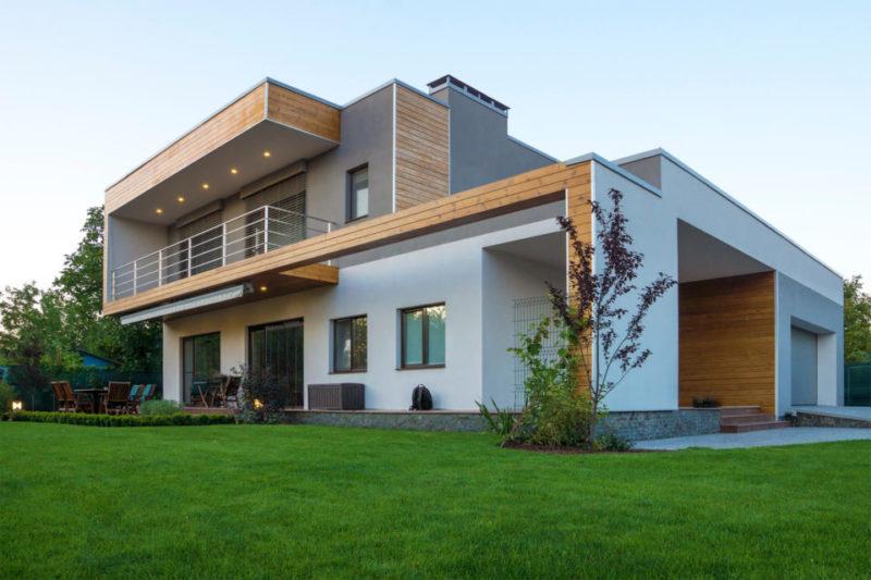 фасад дома в стиле минимализм