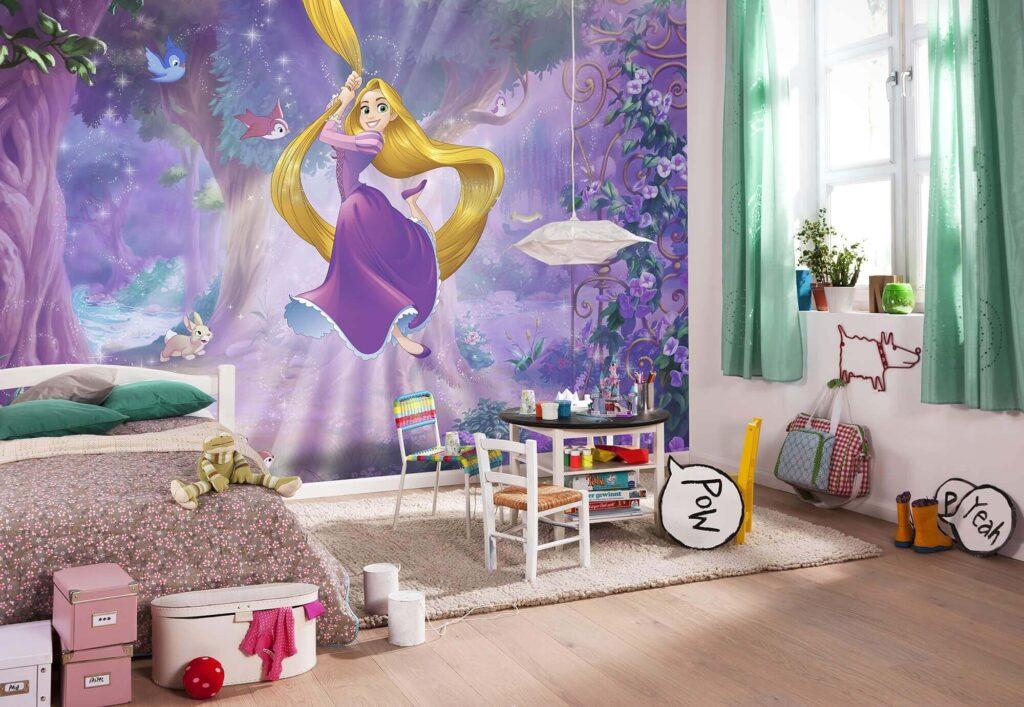 Фотообои с принцессой в детскую для девочки