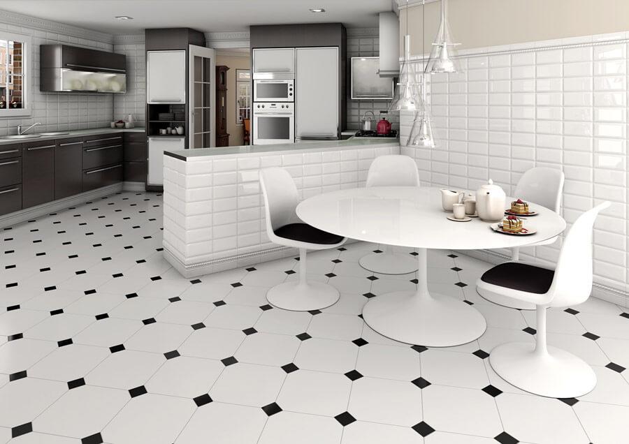 керамическая плита на кухне пол