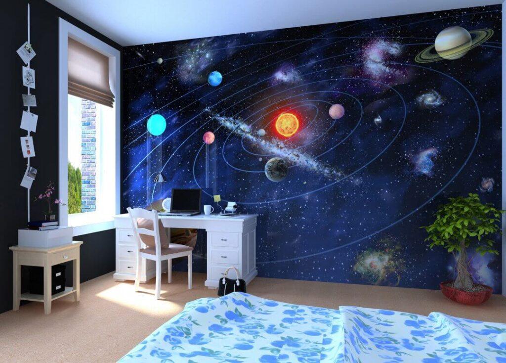 Космос обои детской комнаты