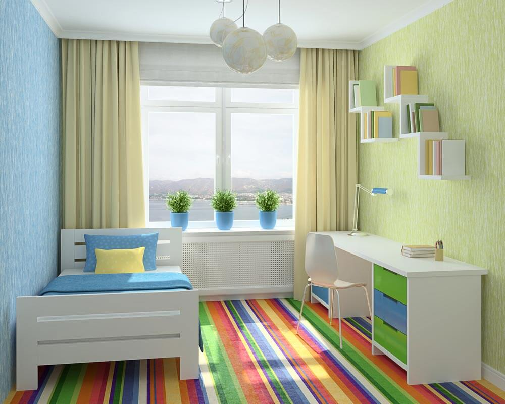 Стеклообои для детской комнаты