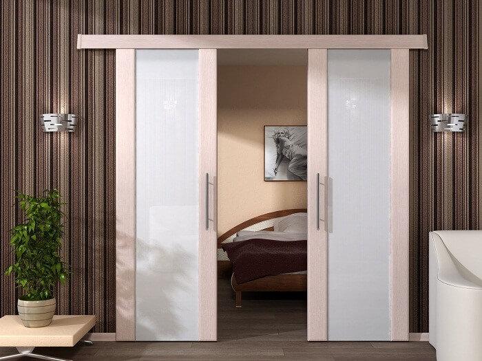 Стильные выдвижные межкомнатные двери