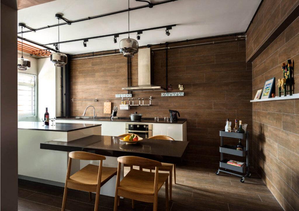 сплошная планировка маленькой кухни