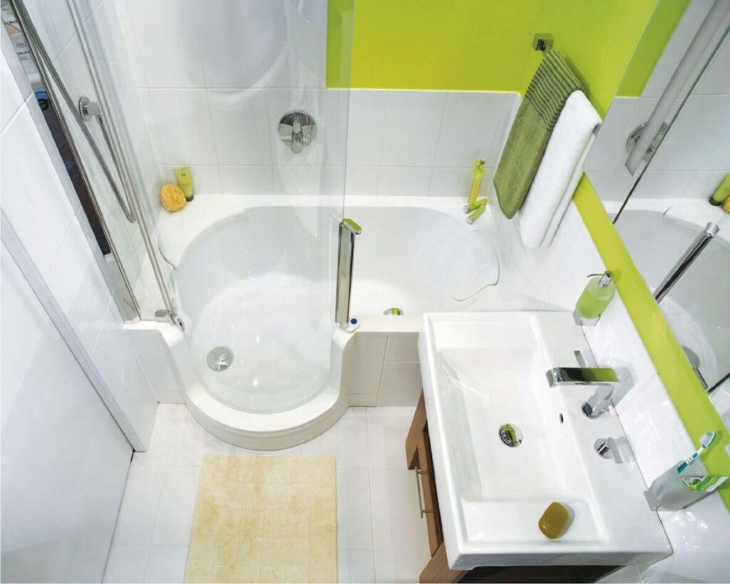 хитрости для маленькой ванной комнаты