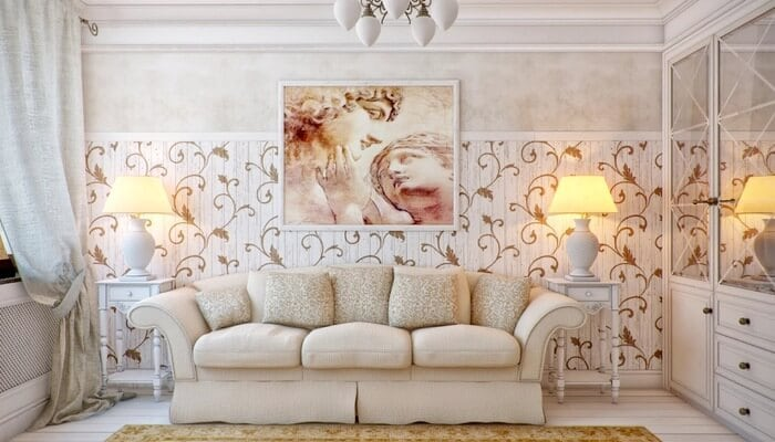 мебель в гостиной в стиле прованс