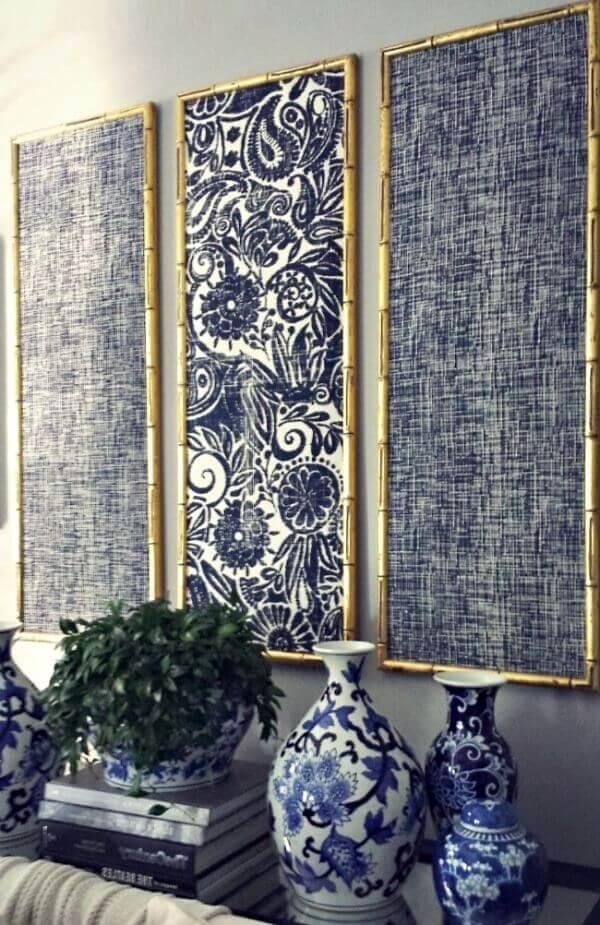 декор панно из ткани