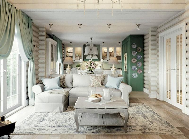 декор в стиле прованс гостиная