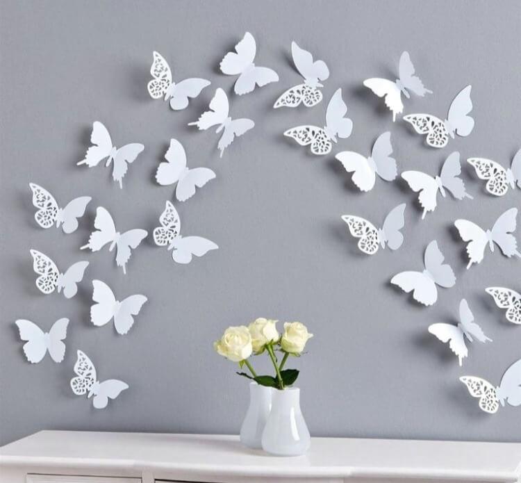декор стен бабочки