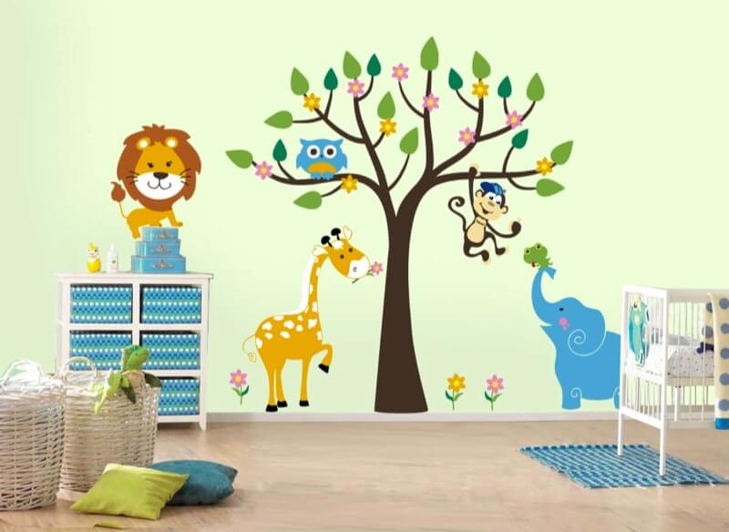 декор стен детская стикеры