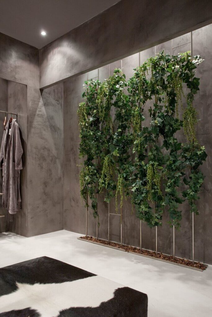 Декор стен живыми растениями