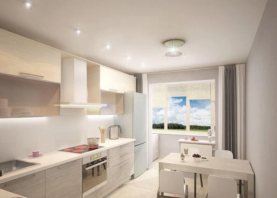 матовые натяжные потолки на кухне