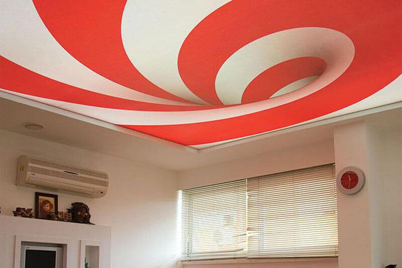 натяжные потолки на кухне 3д