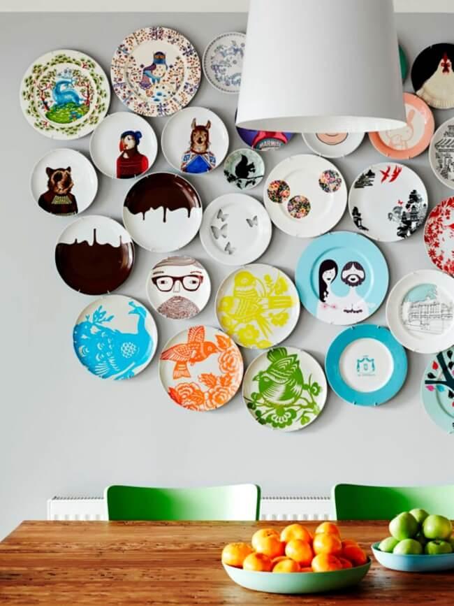 посуда декор стен