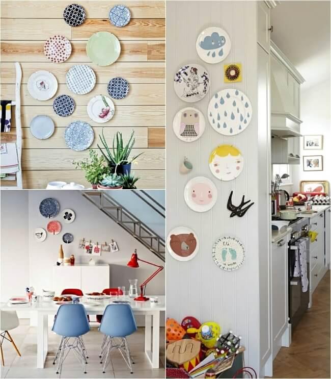 стены на кухне посуда