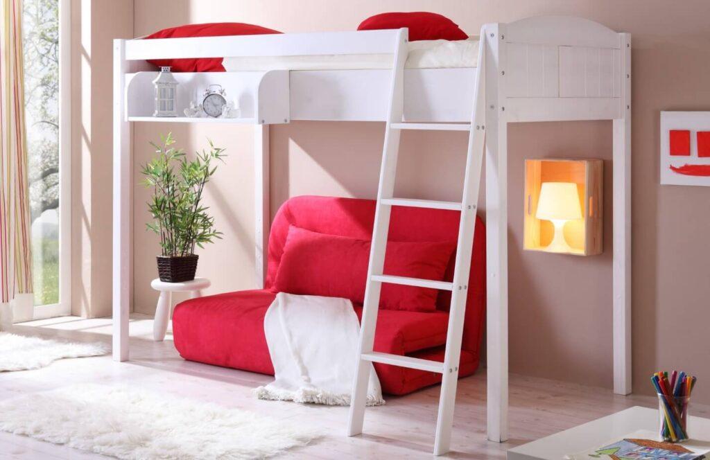 Базовая кровать-чердак с отдельным диваном