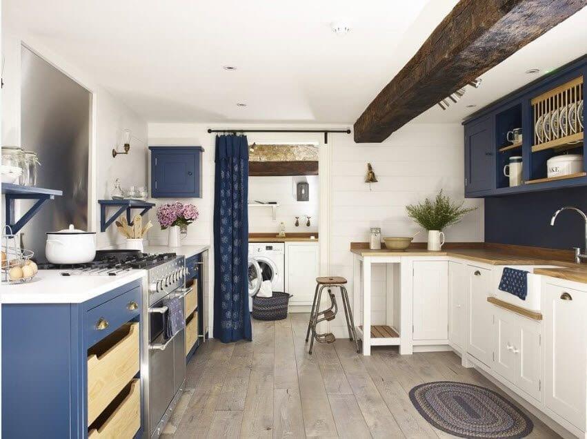 Зонирование кухни и прачечной