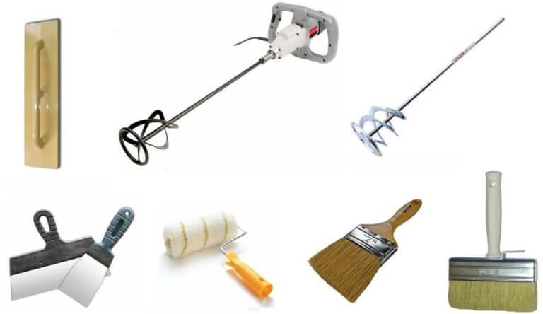 Инструменты для шпаклевки стен под обои