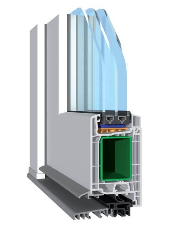 Конструкция металлопластиковых дверей
