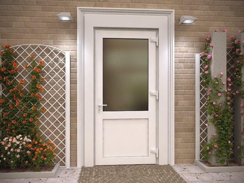 Металлопластиковые входные двери для дома