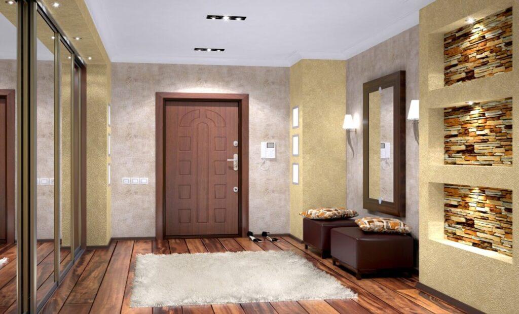 Стальная входная дверь в интерьере квартиры