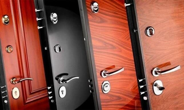 Металлическая дверь с пластинами МДФ