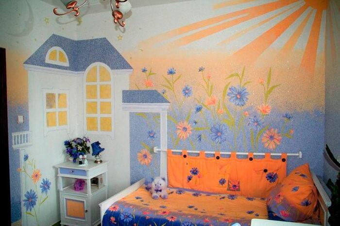 рідкі шпалери в дитячій кімнаті