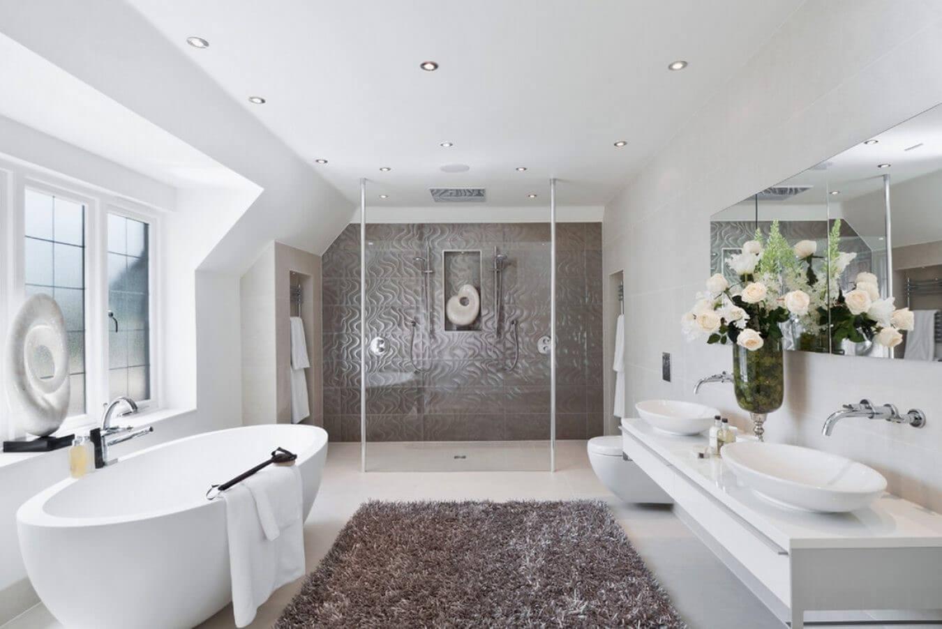 ванная в стиле контемпорари