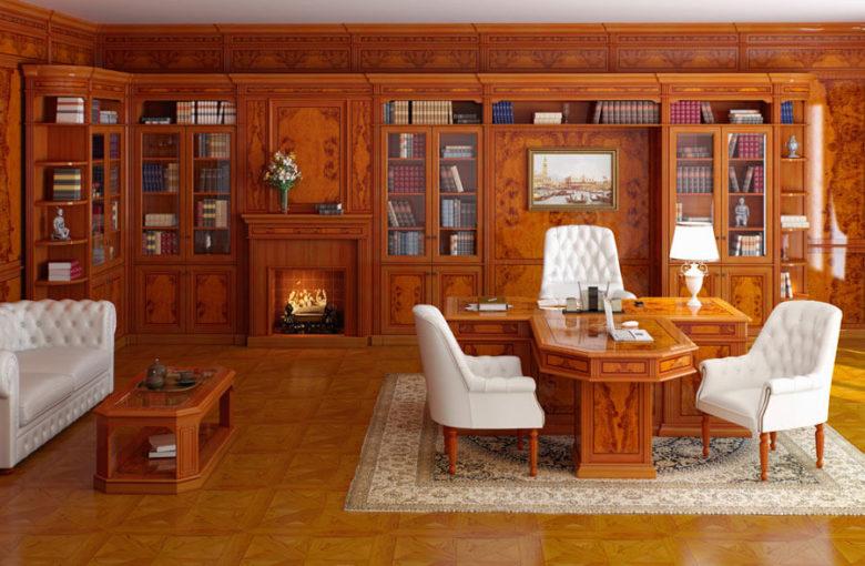 кабинет руководителя в классическом стиле