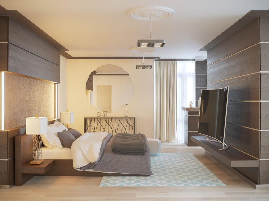Стиль контемпорари для спальни