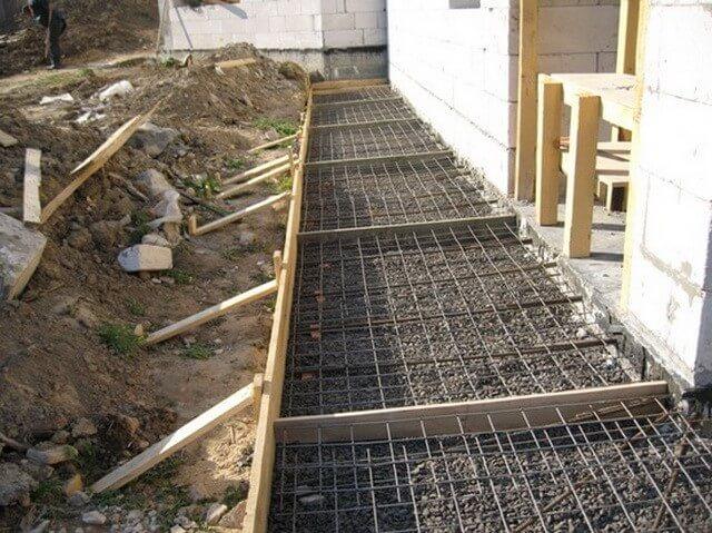 заливка вимощення з бетону