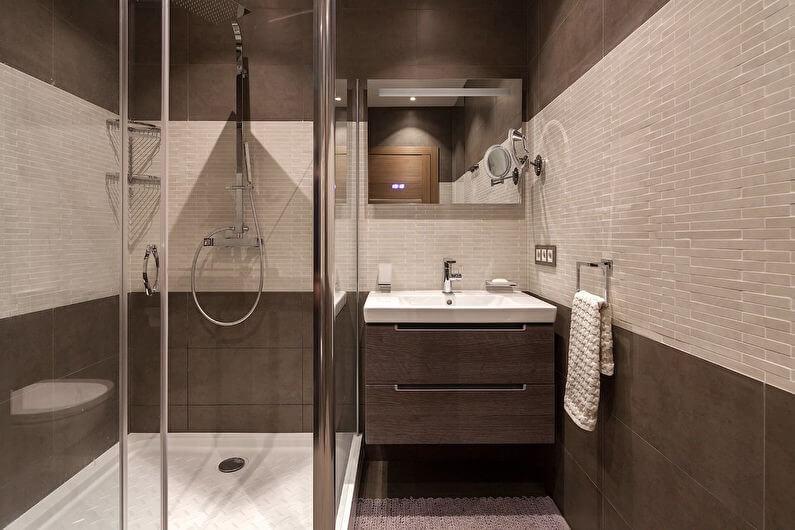 Бежева ванна кімната