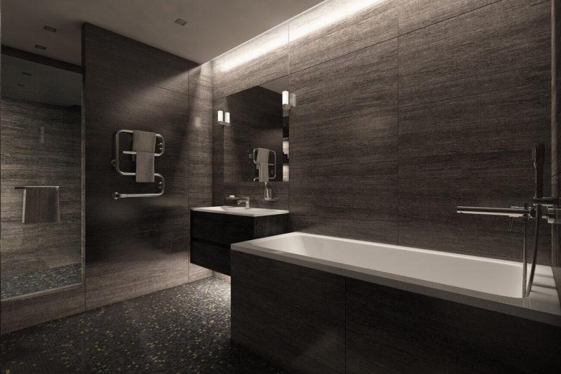 дизайн черной ванной