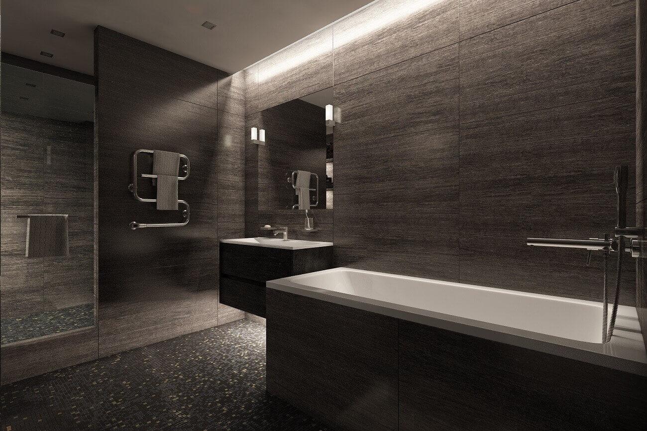 дизайн чорної ванній