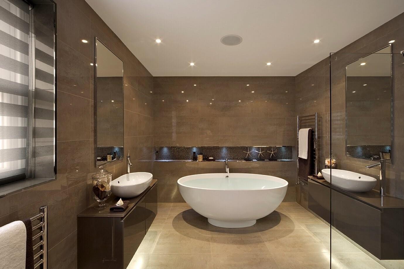 ванна в коричневому кольорі