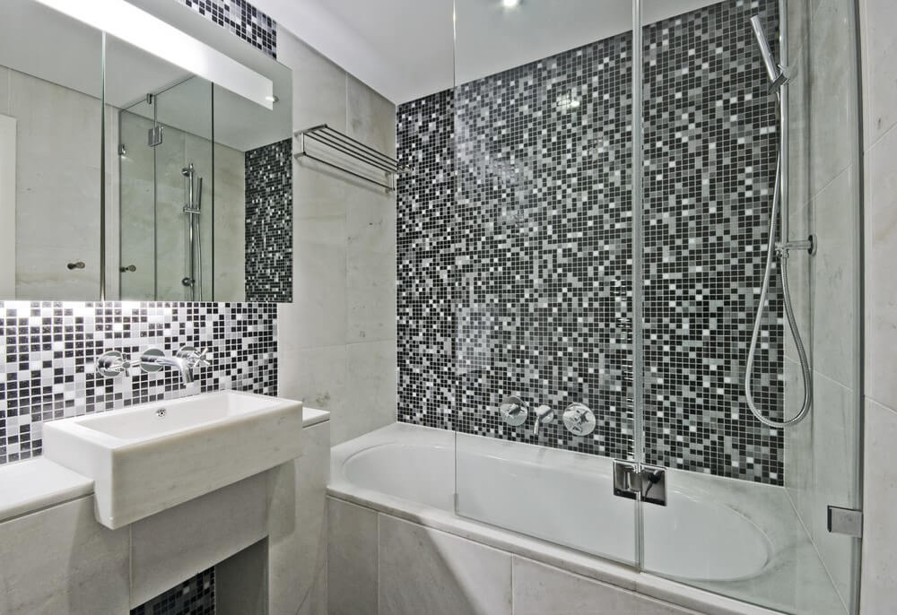 дизайн маленької ванної плитка мозаїка